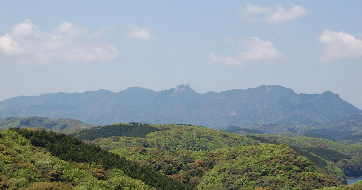 対馬の山々